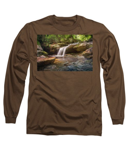 Flooded Waterfall In The Forest Long Sleeve T-Shirt