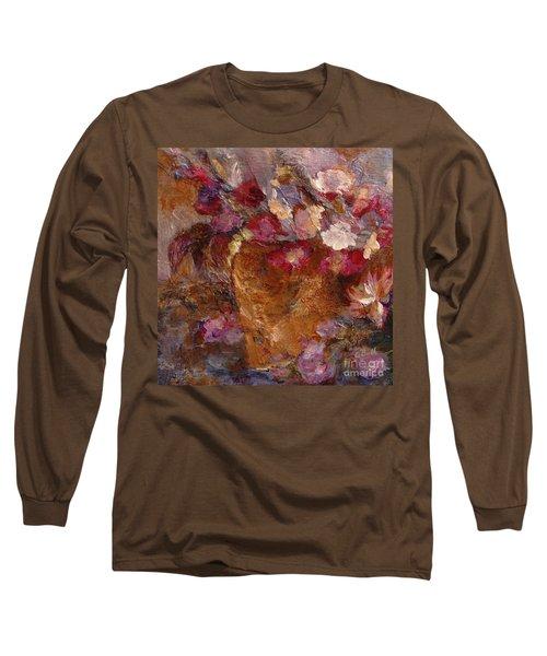 Floral Still Life Pinks Long Sleeve T-Shirt