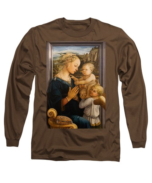 Florence - Madonna And Child With Angels- Filippo Lippi Long Sleeve T-Shirt