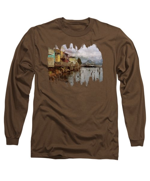 Scene On The Siuslaw  Long Sleeve T-Shirt
