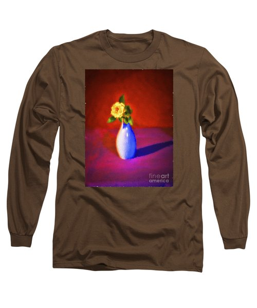 Flower And Vase  ... Long Sleeve T-Shirt by Chuck Caramella