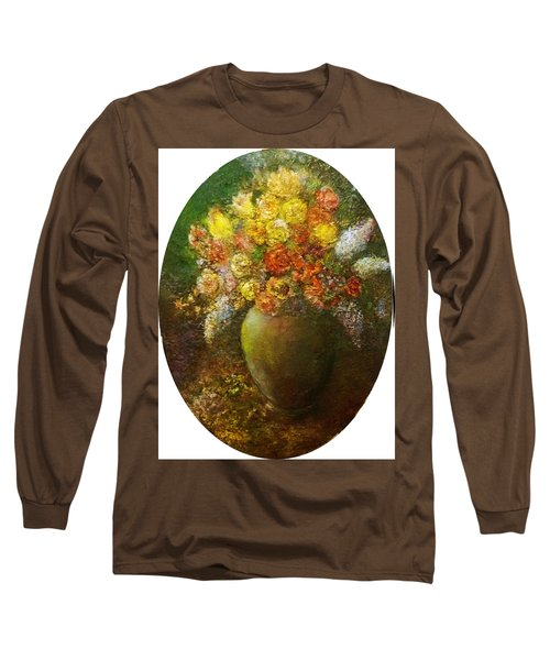 Flowers I A Green Vase Long Sleeve T-Shirt