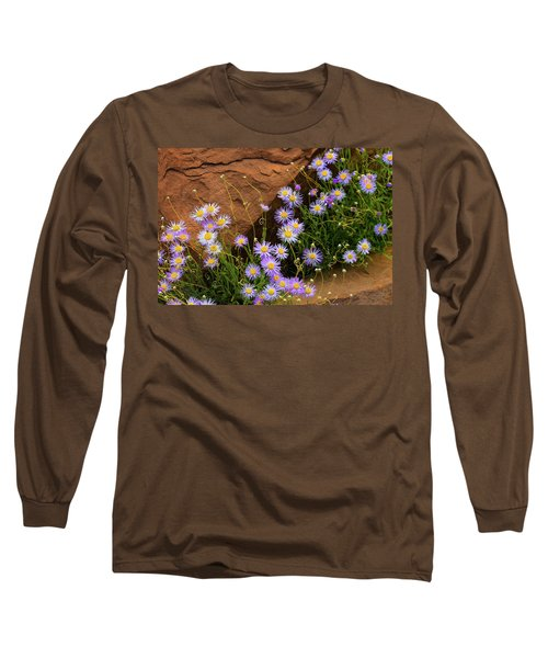 Flowers In The Rocks Long Sleeve T-Shirt by Darren White