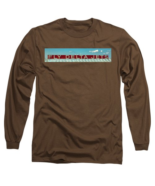 Fly Delta Jets Signage Hartsfield Jackson International Airport Atlanta Georgia Art Long Sleeve T-Shirt