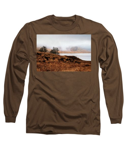 Foggy Day At Loch Arklet Long Sleeve T-Shirt by Jeremy Lavender Photography