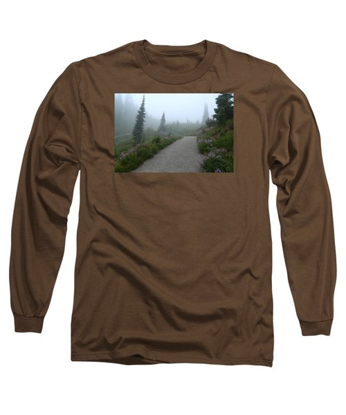 Long Sleeve T-Shirt featuring the photograph Foggy In Paradise 2 by Lynn Hopwood