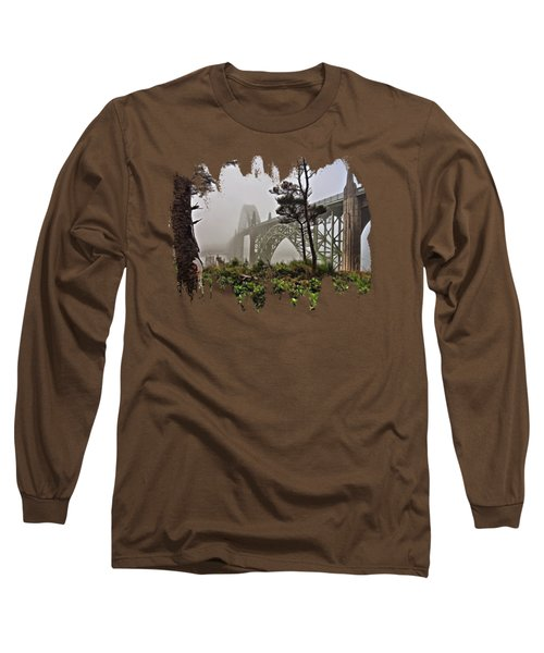A Foggy Morning On Yaquina Bay Long Sleeve T-Shirt