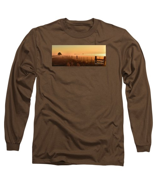 Foggy Sunrise On Hawkins Rd Long Sleeve T-Shirt