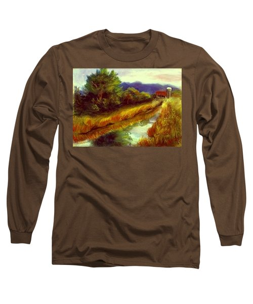 Long Sleeve T-Shirt featuring the painting For A Thirsty Land by Gail Kirtz