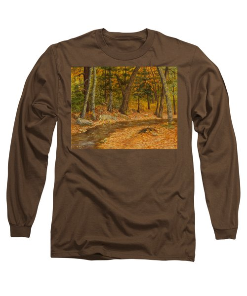 Long Sleeve T-Shirt featuring the painting Forest Life by Roena King