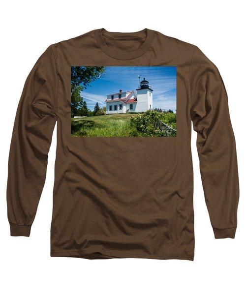 Fort Point Lighthouse  Stockton Springs Me 2  Long Sleeve T-Shirt