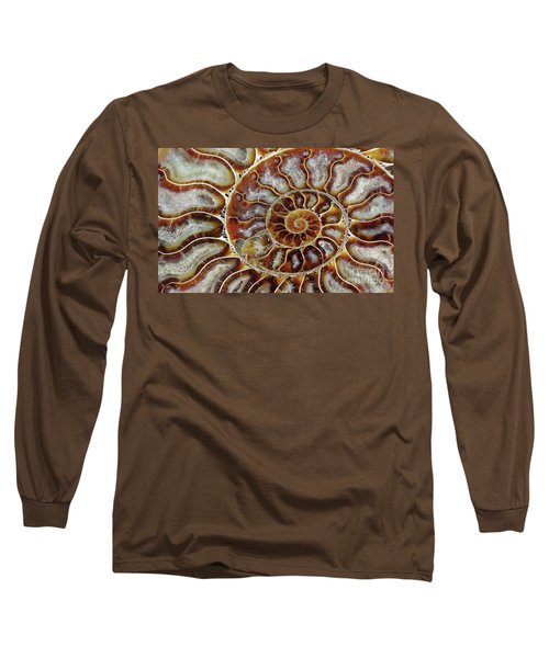 Fossilized Ammonite Spiral Long Sleeve T-Shirt