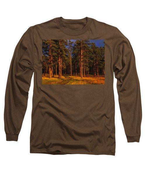 Forest After Rain Storm Long Sleeve T-Shirt by Vladimir Kholostykh