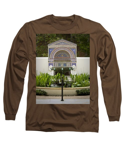 Fountains At The Getty Villa Long Sleeve T-Shirt