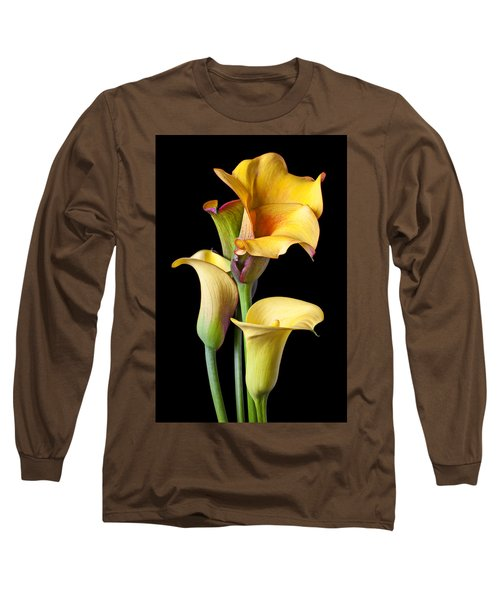 Four Calla Lilies Long Sleeve T-Shirt