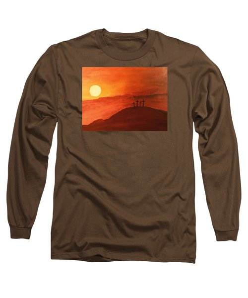 Four Crosses Long Sleeve T-Shirt by David Stasiak