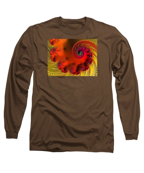 Long Sleeve T-Shirt featuring the digital art Fractal Art - Breath Of The Dragon by HH Photography of Florida