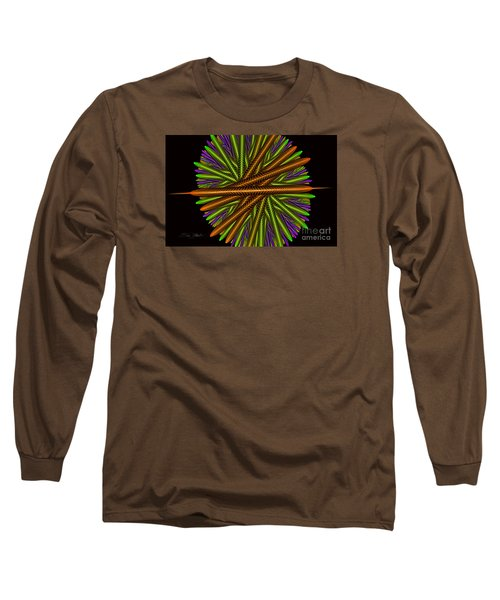 Fractal Feathers Long Sleeve T-Shirt by Melissa Messick
