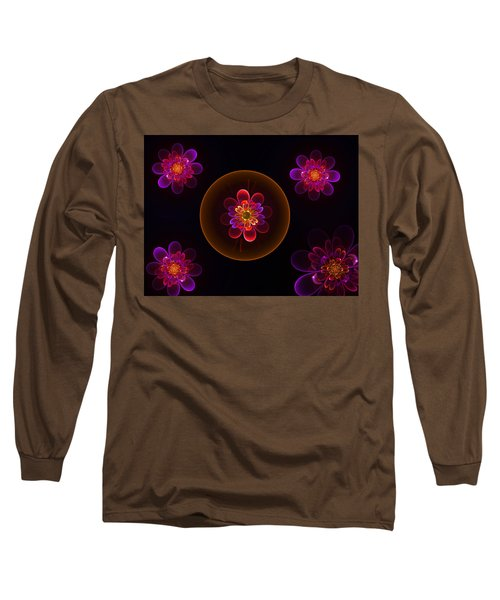Fractal Flowers Long Sleeve T-Shirt