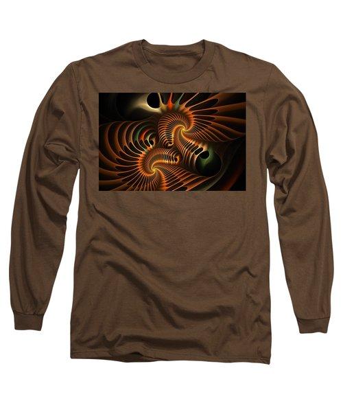 Fractal Spirochete Long Sleeve T-Shirt