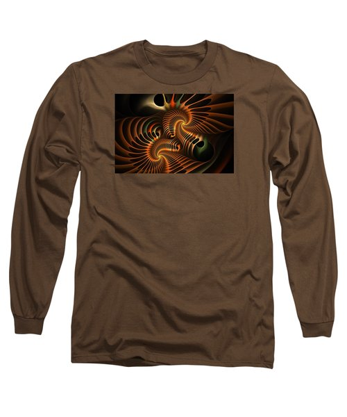 Fractal Spirochete Long Sleeve T-Shirt
