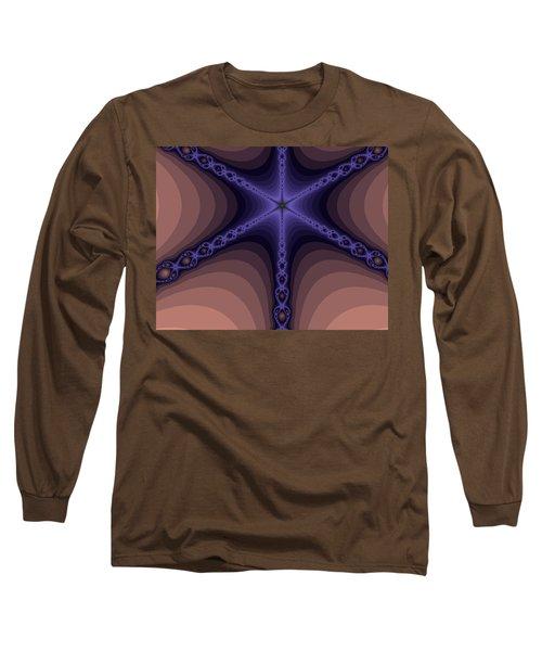 Fractals Yum Beige Long Sleeve T-Shirt