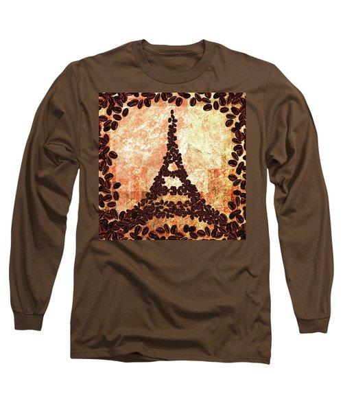 French Roast Eiffel Tower Long Sleeve T-Shirt