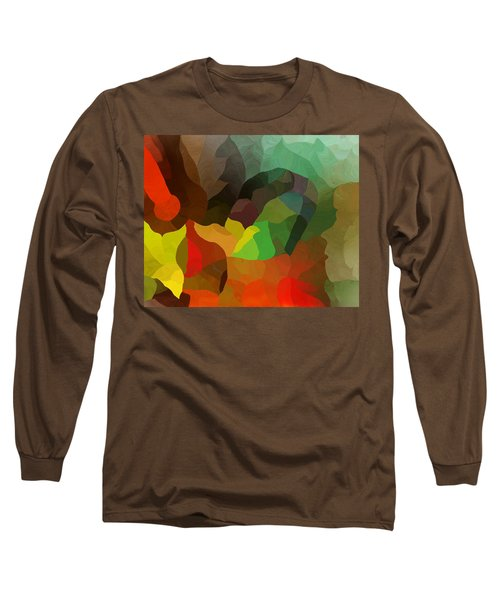 Frolic In The Woods Long Sleeve T-Shirt by David Lane
