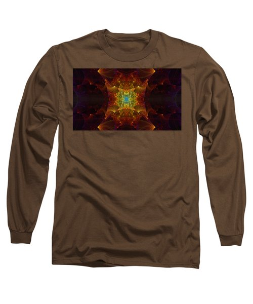 Long Sleeve T-Shirt featuring the digital art From Chaos Arisen by Lea Wiggins