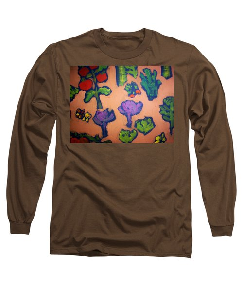 Long Sleeve T-Shirt featuring the painting From The Earth by Winsome Gunning