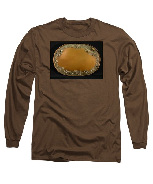 Long Sleeve T-Shirt featuring the sculpture From The Foothills Bronze Tray by Dawn Senior-Trask