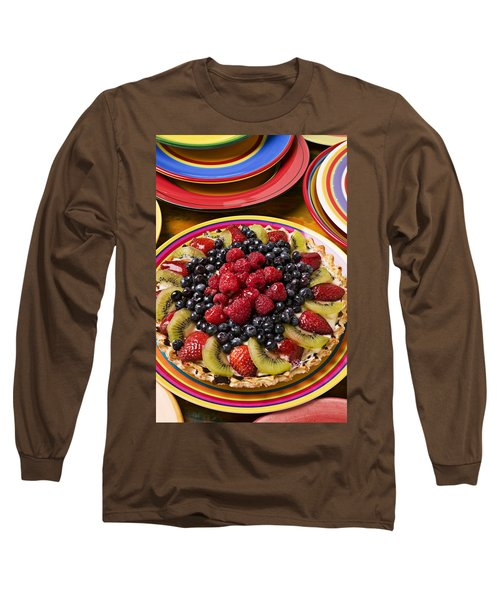 Fruit Tart Pie Long Sleeve T-Shirt by Garry Gay