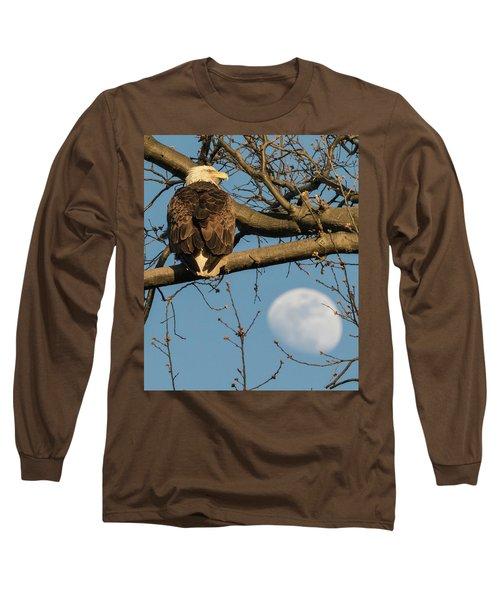 Full Moon Eagle  Long Sleeve T-Shirt