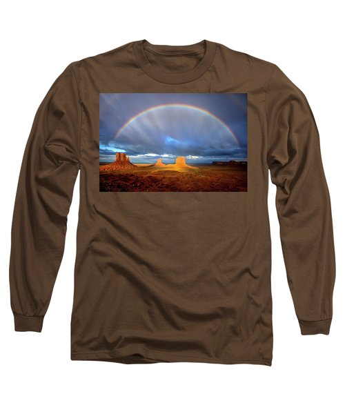 Full Rainbow Over The Mittens Long Sleeve T-Shirt