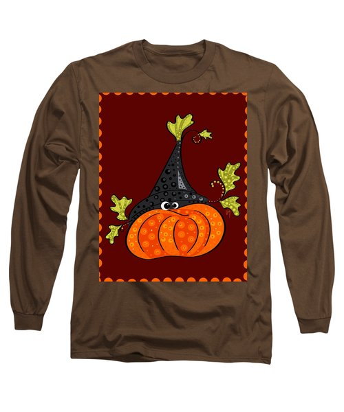 Long Sleeve T-Shirt featuring the painting Funny Halloween by Veronica Minozzi