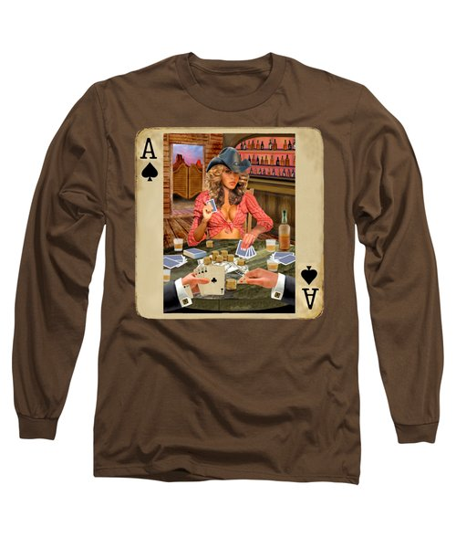 Gamblin' Cowgirl Long Sleeve T-Shirt by Glenn Holbrook