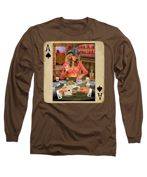 Gamblin' Cowgirl Long Sleeve T-Shirt