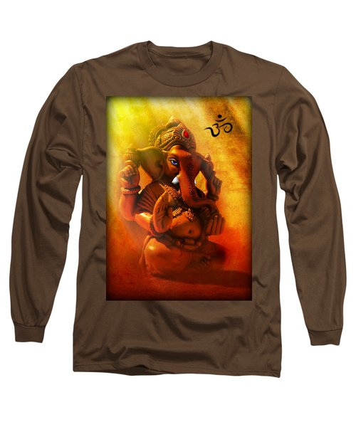 Ganesha Hindu God Asian Art Long Sleeve T-Shirt