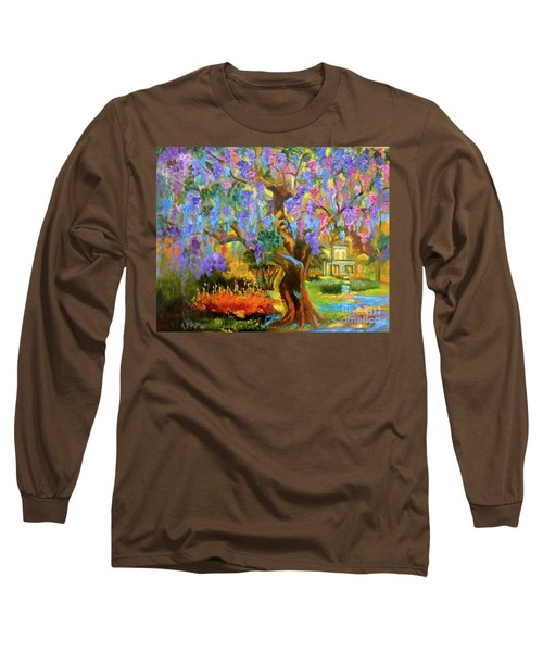 Garden Pathway Long Sleeve T-Shirt by Jenny Lee