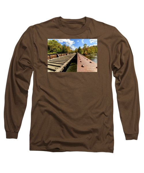 Gauley River Railroad Trestle Long Sleeve T-Shirt by Thomas R Fletcher