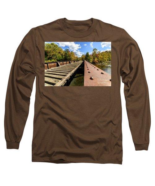 Gauley River Railroad Trestle Long Sleeve T-Shirt
