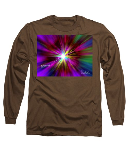 Long Sleeve T-Shirt featuring the digital art Genesis 1 Verse 3 by Greg Moores