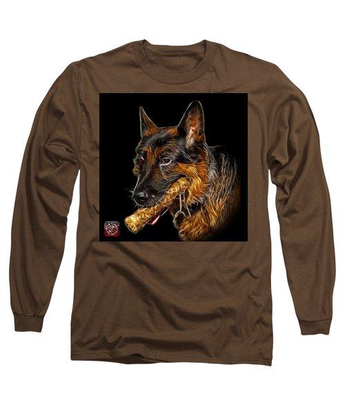 German Shepherd And Toy - 0745 F Long Sleeve T-Shirt