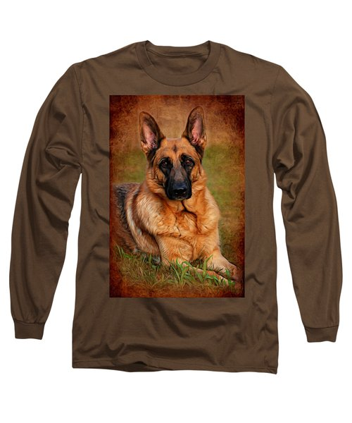 German Shepherd Dog Portrait  Long Sleeve T-Shirt
