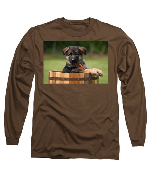 German Shepherd Puppy In Planter Long Sleeve T-Shirt