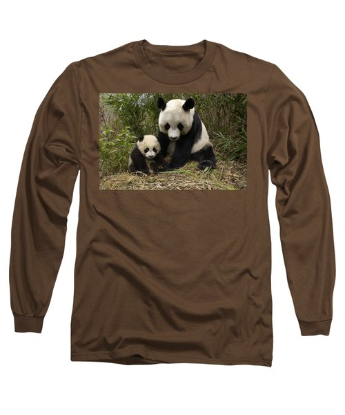 Giant Panda Ailuropoda Melanoleuca Long Sleeve T-Shirt
