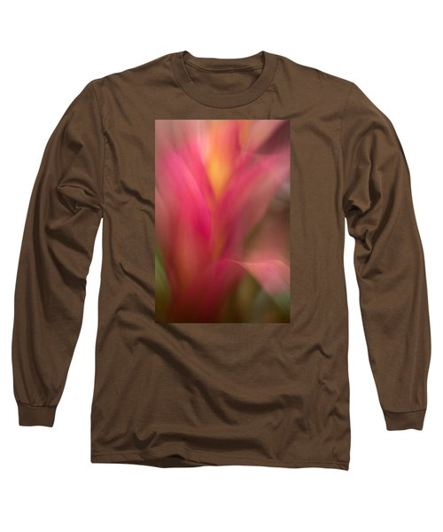 Ginger Flower Blossom Abstract Long Sleeve T-Shirt by Catherine Lau