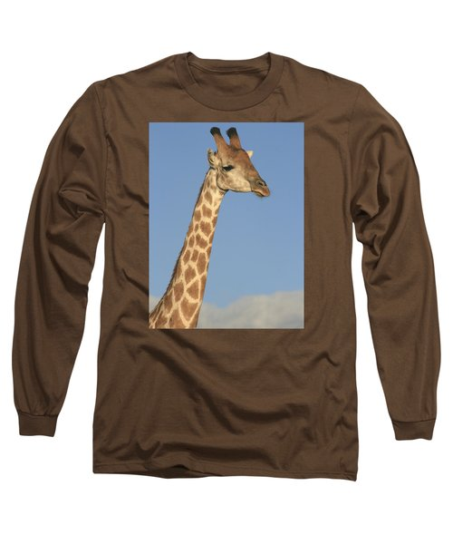 Giraffe Portrait Long Sleeve T-Shirt