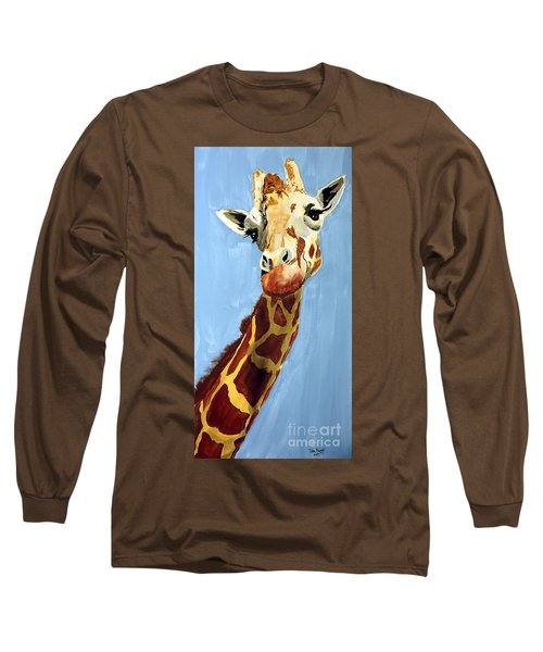 Girard Giraffe Long Sleeve T-Shirt by Tom Riggs