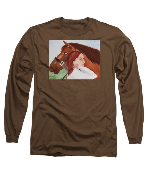 Girl And Her Horse Long Sleeve T-Shirt